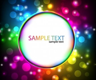 Colorful Glowing Design Vector Background