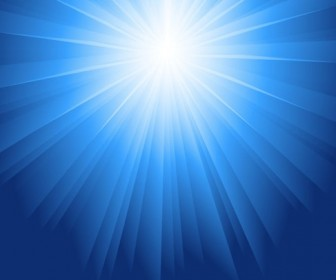 Sunlight Burst Blue Vector Background