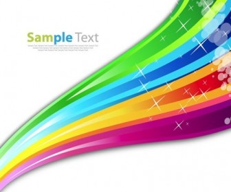 Rainbow Color Abstract Background Vector Illustration