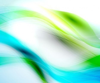 Abstract Blue Green Waves Background Vector Illustration