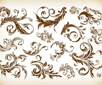Vintage Design Element Vector Graphics Set