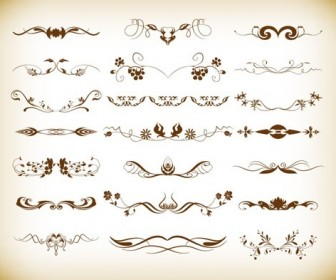 Vintage Element Decoration Vector Illustration Set