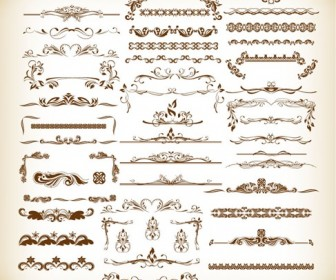 Vintage Design Elements Collection Vector Illustration
