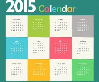 Creative New Year Calendar 2015 Vector Illustration