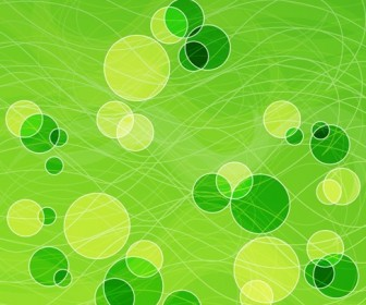 Abstract Spring Green Background Vector Illustration