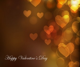 Heart Bokeh Background for Valentine Day Vector Illustration