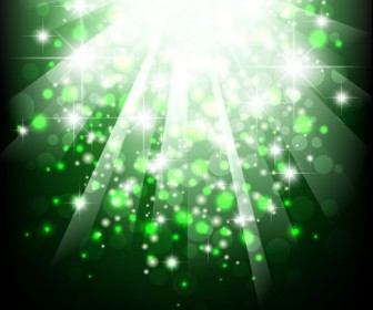Green Bokeh Light Background Vector Illustration
