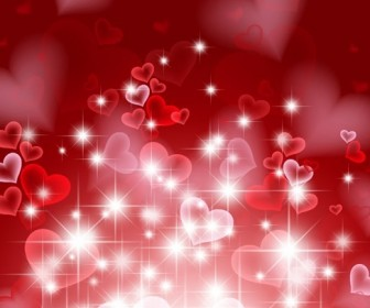 Abstract Hearts Background for Valentine Day Vector Illustration