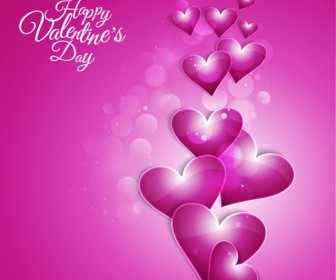 Happy Valentine Day Background Vector Illustration