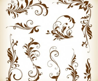 Vector Illustration Set of Floral Design Element