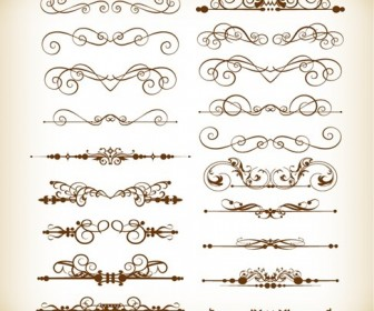 Vector Set of Divider Decoration Elements