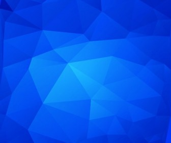 Vector Illustration of Abstract Triangle Blue Background