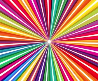 Spectrum Rainbow Colored Rays Abstract Background Vector Illustration