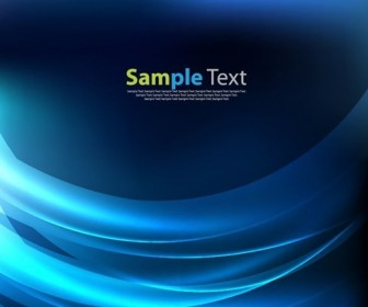 Abstract Blue Light Wave Background Vector Illustration