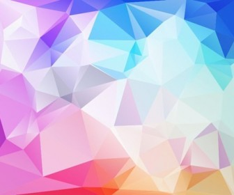 Abstract Low Poly Background Vector Illustration