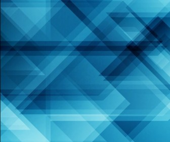 Geometrical Abstract Blue Vector Background