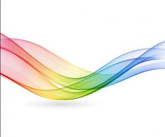 Abstract Colorful Rainbow Wave Vector Background